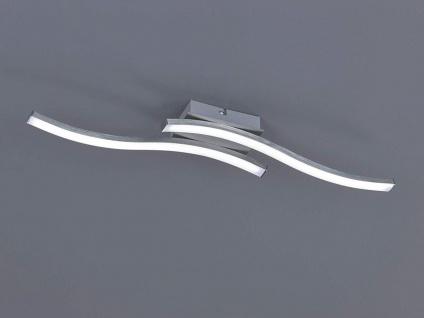 Moderne LED Deckenleuchte 2 flammig Nickel matt 56x9cm Wohnraumbeleuchtung