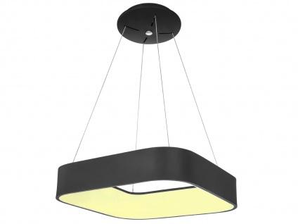 Eckige LED Pendelleuchte Metallschirm schwarz - Hängeleuchten für den Esstisch