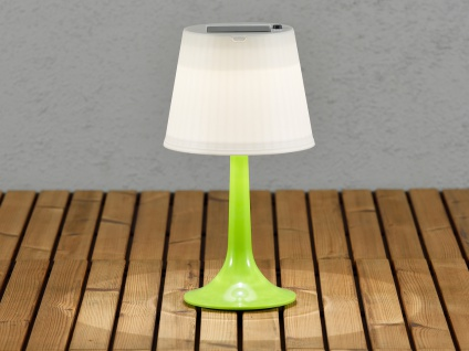 Solar High Power LED-Tischlampe / Tischleuchte ASSISI grün Höhe 36 cm