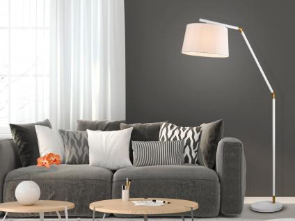 Stylishe Bogenlampe für hohe Räume, Esstisch Standleuchte bogenförmig einflammig