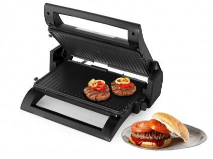 Kontaktgrill, Waffeleisen Sandwichmaker 4in1 Wechselplatten Grillzange, 31x21cm - Vorschau 3