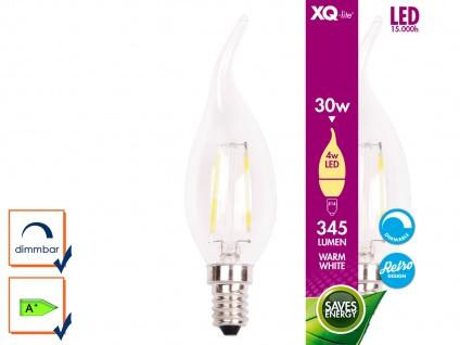 XQ-Lite Filament LED Leuchtmittel E14, 4W, 345 Lumen, dimmbar, 2700 Kelvin