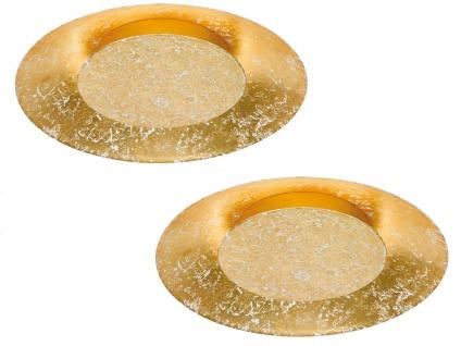 2x runde Design LED Deckenlampe SHINE Farbe gold Ø 34, 5cm, Samsung LED, Fischer