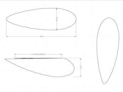 Moderne Wandleuchte, Glas in Tropfenform, 44x13cm, Trio-Leuchten - Vorschau 3
