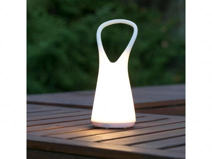 Dimmbare LED Tischleuchte ohne Strom, Design Dekolicht für Garten Balkon Camping