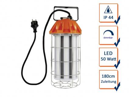 Dimmbare LED 50 Watt Arbeitsleuchte tragbar Werkstattlampe Handlampe 5500 Lumen