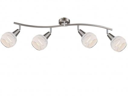 LED Deckenlampe 4flammig Lampenschirme Glas, Deckenleuchte Strahler Wohnraum - Vorschau 2
