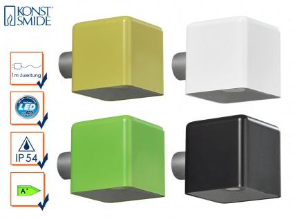 4er-Set Außenwandleuchte AMALFI schwarz, gelb, weiß, grün, Wandstrahler Spot