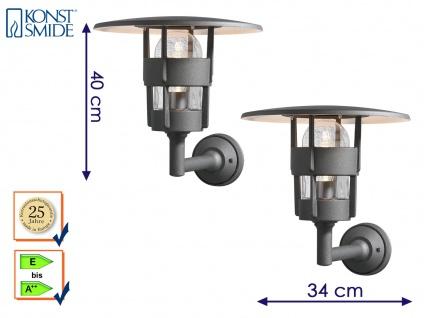2er Set Außenwandleuchte Laterne schwarz, Wandleuchte Hauswand Terrasse Lampe