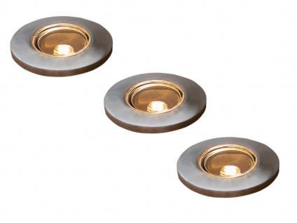 3 Stk Mini LED Bodenspots Edelstahl Ø3, 5cm Einbaustrahler für Garten & Terrasse