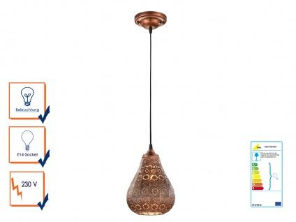 Pendelleuchte JASMIN in Kupfer antik, 1xE14, Ø19cm, L150cm, Trio