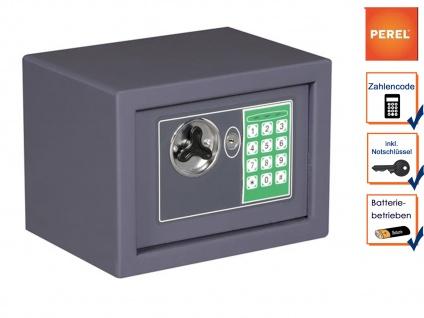 Elektronischer Safe grau mit Zahlencode Möbeltresor Wandtresor Geldschrank Stahl
