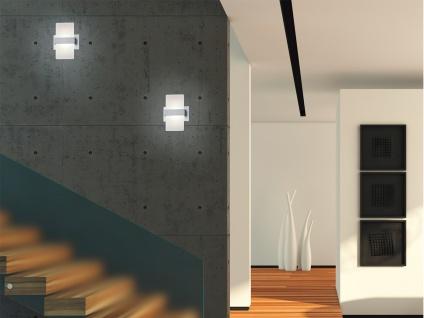 Trio LED Wandleuchte PLATON 13x18cm mit Schalter, Wandlampe Flur Wohnzimmer - Vorschau 2