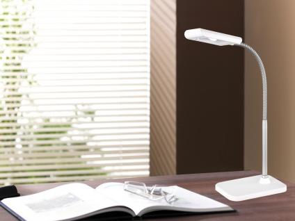 Moderne LED Schreibtischleuchte flexibel & biegsam PICO in Weiß, 28cm hoch