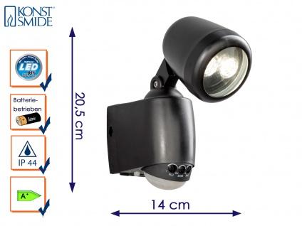LED Wandaufbauleuchte Wegeleuchte PRATO Bewegungsmelder batteriebetrieben
