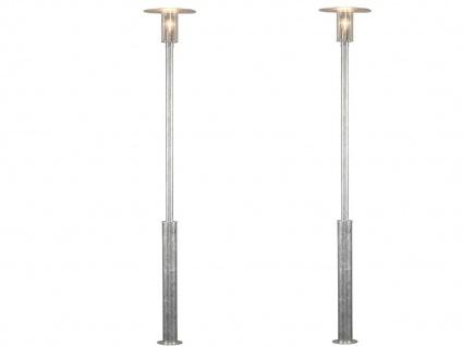2er Set Konstsmide Außenstehleuchte Mastleuchte MODE, bruchsicher, Lampe außen