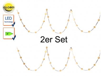 2er Set: 5m LED Band Lichterketten mit je 30 Lichtkugeln, Dekoleuchten Wohnraum