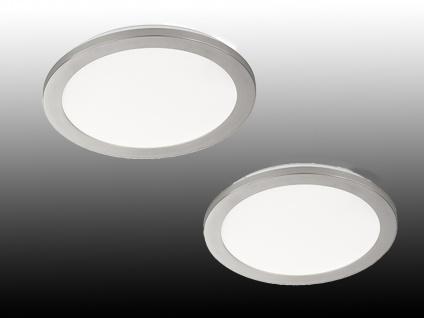 LED Innenleuchten 2er SET fürs Badezimmer, runde IP44 Deckenlampen, dimmbar, matt - Vorschau 1