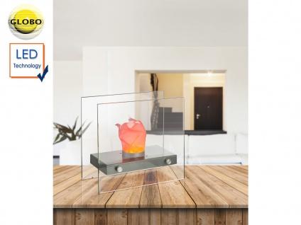 LED Tischlampe Design Tischkamin elektrisch für Indoor - Tischfeuer Dekokamin