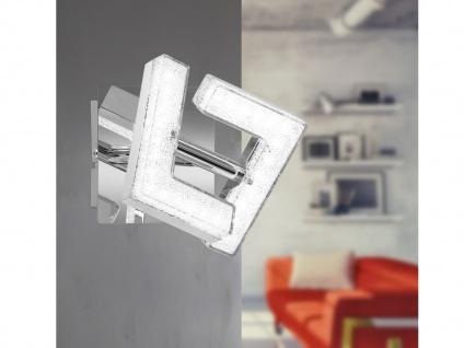 Design Wandleuchte LED Spot 4 Watt drehbar Chrom poliert Kristalloptik Flurlampe