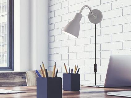 Flexible LED Retro Wandleuchte & Spot Leselampe Grau mit Kabel und Stecker