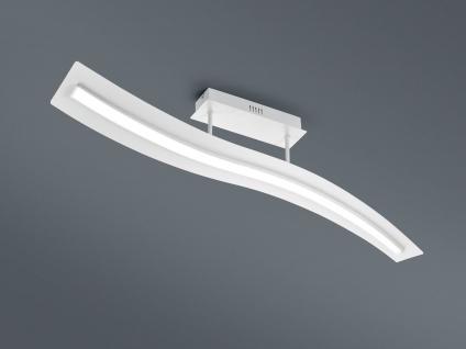 Geschwungene LED Deckenleuchte Design Wellenform Weiß mit Switch Dimmer Funktion