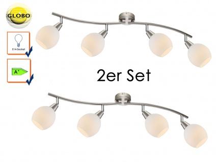 2x LED Deckenlampe Deckenstrahler ELLIOTT, Glasschirme, Deckenleuchte schwenkbar