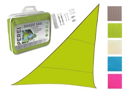 Sonnensegel Dreieck Grün 3, 6m mit Ösenset für Terrasse Balkon Sonnenschutzsegel