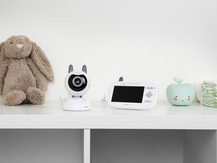 Video Babyphone mit Nachtsichtkamera & Farbdisplay, Gegensprechanlage Temperatur