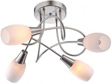 Globo Deckenstrahler GILLIAN Design rund, Glas weiß, Deckenleuchte Deckenlampe