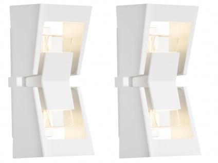 2er-Set UP & DOWN Außenwandleuchten POTENZA austauschbares LED Modul