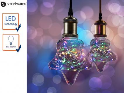 LED Deko Leuchtmittel Stern E27, 30 bunte LEDs, Stimmungsleuchtmittel Partylicht