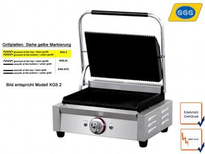 Profi Edelstahl Kontaktgrill Gastro Steakgrill Paninimaker Multigrill, 2800 Watt