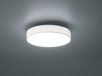Trio LED Deckenleuchte dimmbar LUGANO 40cm Stoffschirm weiß, Wohnzimmerlampe - Vorschau 3