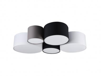 Ausgefallene mehrflammige LED Deckenlampe mit verschiedenen Stofflampenschirmen - Vorschau 5