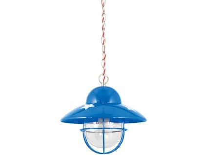 Lief! Coole Pendelleuchte im Fisherman Style Blau Kinderzimmerlampen für Jungen