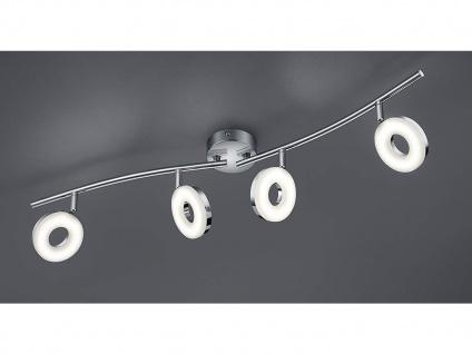 Schwenkbarer LED Deckenstrahler RENNES für innen 4 flammig Metall Silber Chrom