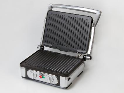 Großer Kontaktgrill Tischgrill Paninimaker mit Wechselplatten & Timer 1800 Wattt - Vorschau 4
