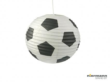 Lampion Kugel Fussball Motiv Ballon Lampe Papier Lampenschirm für Kinderzimmer