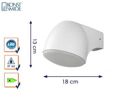 Außenwandleuchte Alu weiß Downlight mit LED IP44 Außenleuchten Wegeleuchten