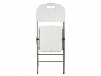 Klappstuhl weiß, Campingstühle klappbar, Balkonstühle , Gartenstühle - Vorschau 3