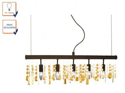 Pendelleuchte AMELIA mit 5 LEDs, L. 80cm, Hängelampe Hängeleuchte Pendel