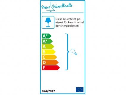 Deckenleuchte mit Stoff Lampenschirm Weiß 50cm - Textil Deckenlampe Stoffschirm - Vorschau 3