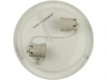 LED Deckenleuchte rund Schliffglas Zierring Chrom Ø40cm LED Küchenleuchte - Vorschau 3