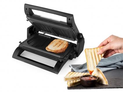 Kontaktgrill, Waffeleisen Sandwichmaker 4in1 Wechselplatten Grillzange, 31x21cm - Vorschau 4