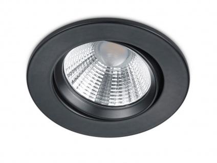 LED Einbaustrahler Decke rund Ø 8, 5 cm schwenkbar dimmbar Schwarz matt 5, 5W Flur