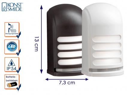 2er-LED Wandaufbauleuchte Nachtlicht PRATO Bewegungsmelder batteriebetrieben
