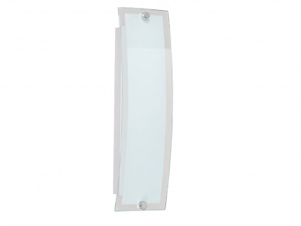 LED Wandlampe gebogen, Glas weiß / Rand klar, Action by Wofi - Vorschau 2