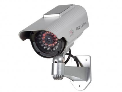 2er Set Kamera Attrappe, Solar, Batterie, IR-LEDs (Imitation), Dummy Kamera - Vorschau 3