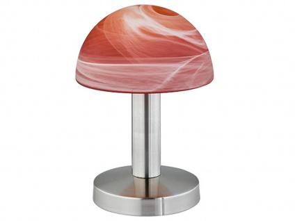 Touch Nachttischlampen mit Glasschirm orange dimmbare Leuchte fürs Schlafzimmer